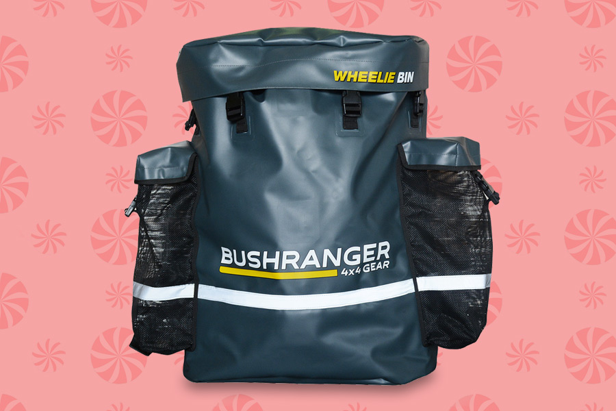 Keep the stink out of your car with the Bushranger 4WD Wheelie Bin.