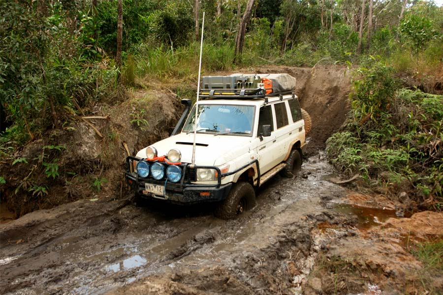 4WD caught in the mud