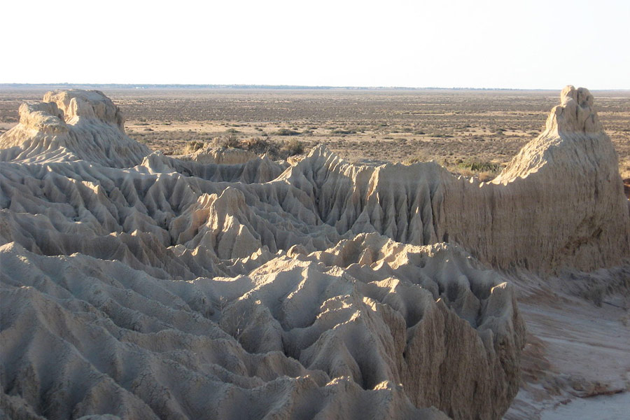 Lake Mungo erosion from birds view