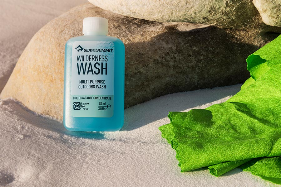 Wilderness Wash helps follow the 7 leave-no-trace principles