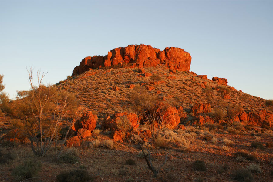 View of Bishop Rileys Pulpit at sunset