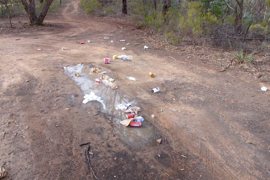 Leaving rubbish in remote areas is poor form.