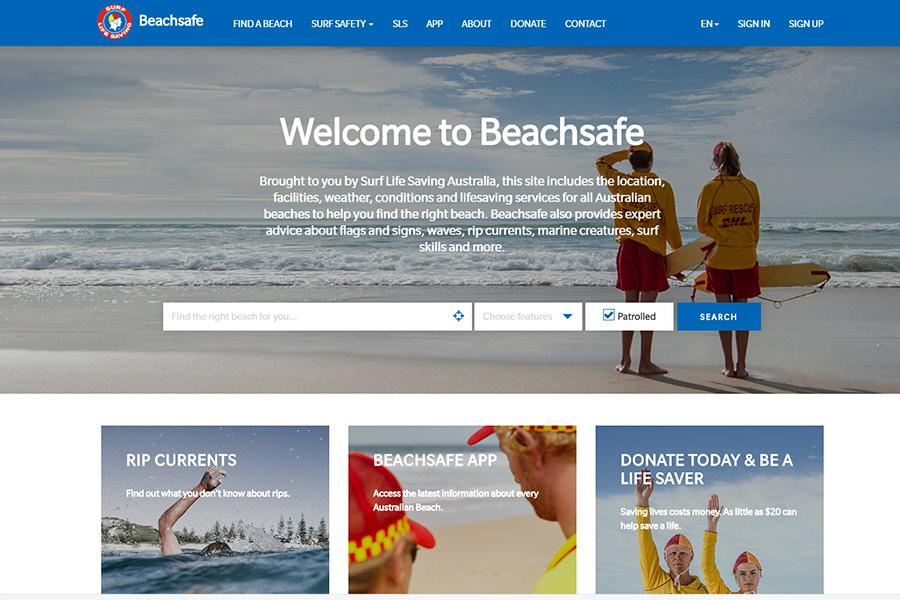 Beachsafe website - lifesaving services