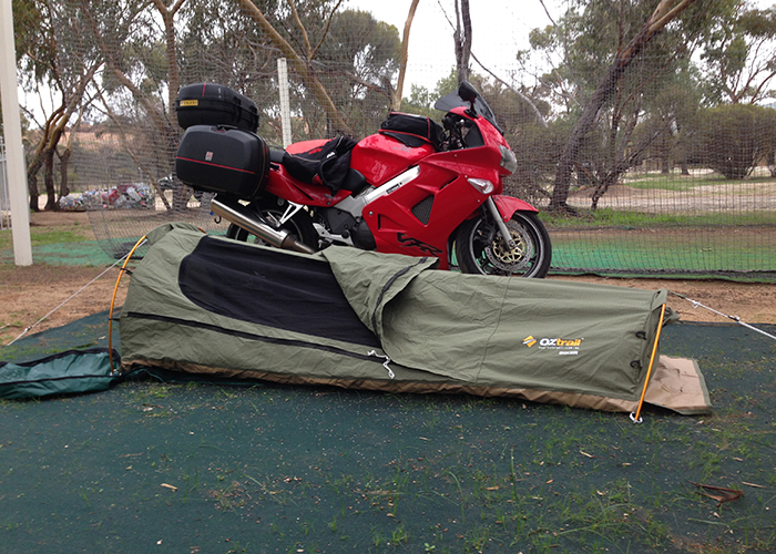 Motorcycle Camping Swags Vs Tents Snowys Blog