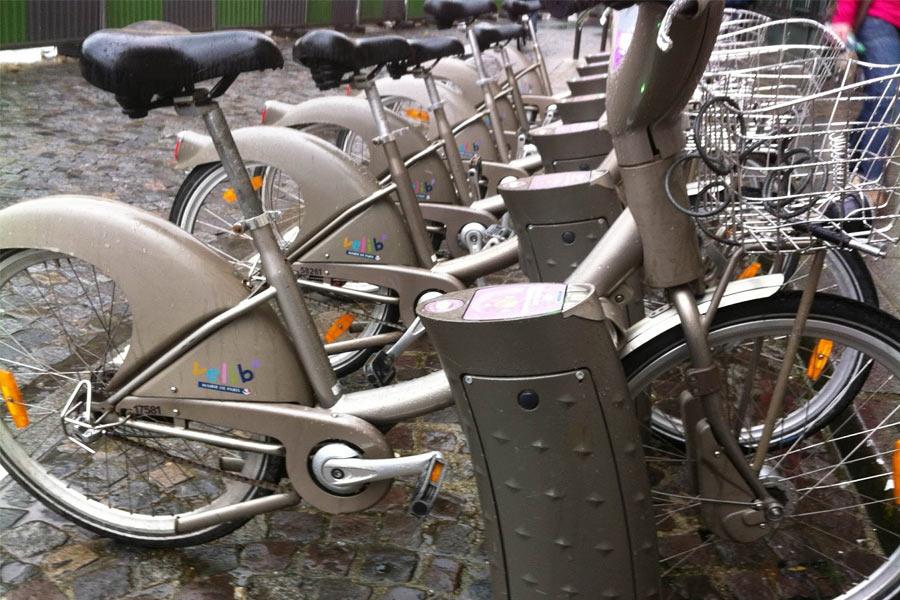 Velib Bike Hire System in Paris, France.