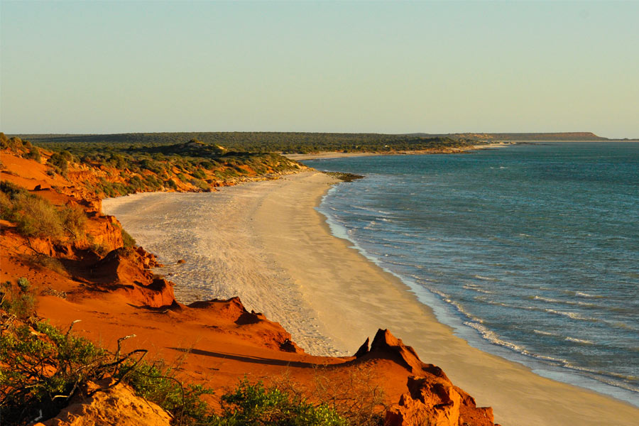 Stunning red cliffs along the Peron Peninsula