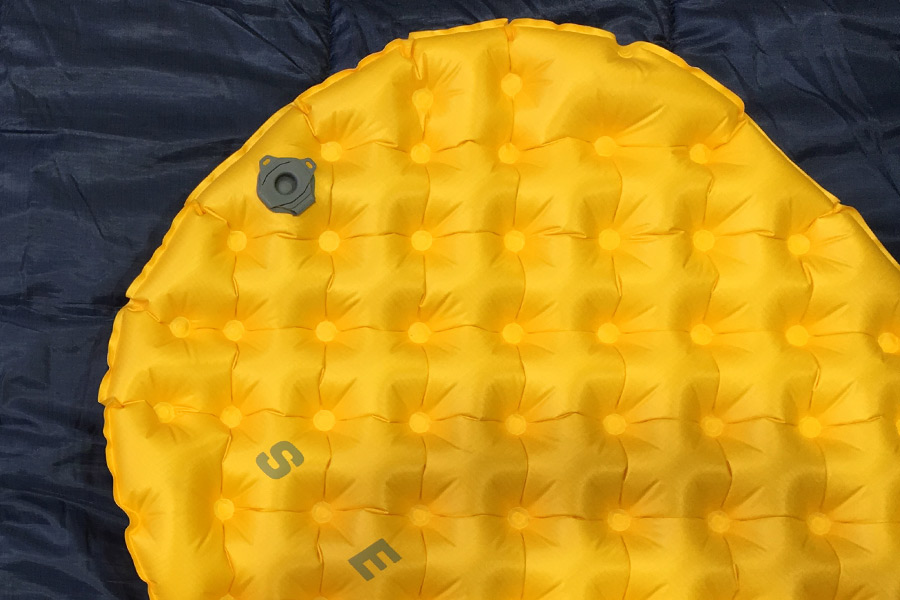 Fully inflated Sea to Summit Ultralight Sleeping Mat