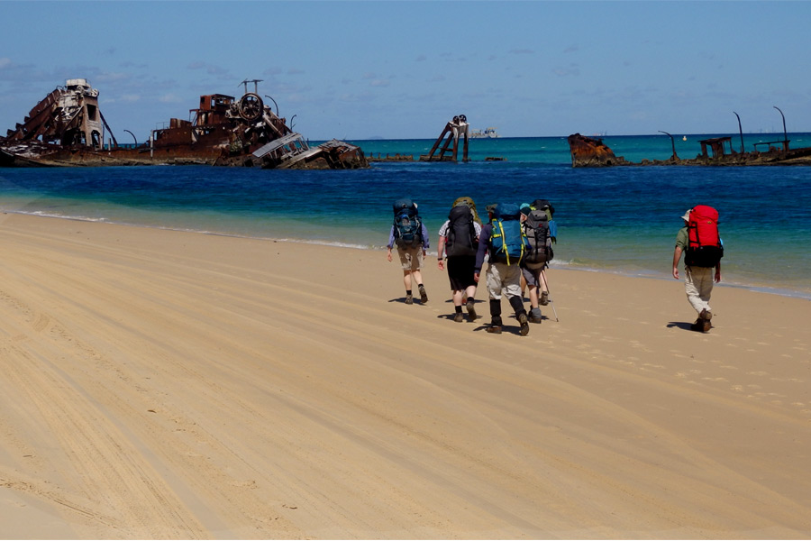 Walkers on Moreton Island
