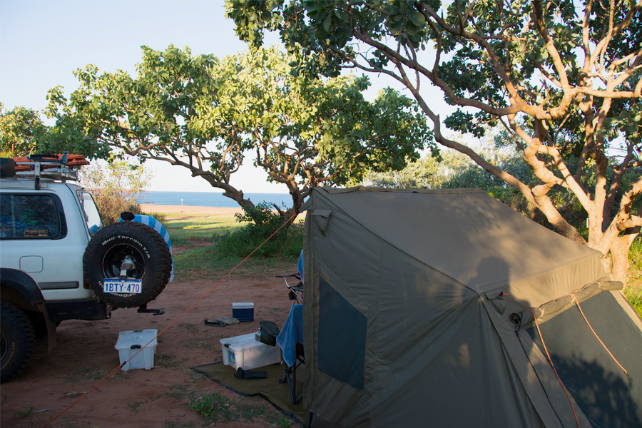 Middle Lagoon camping north of Broome