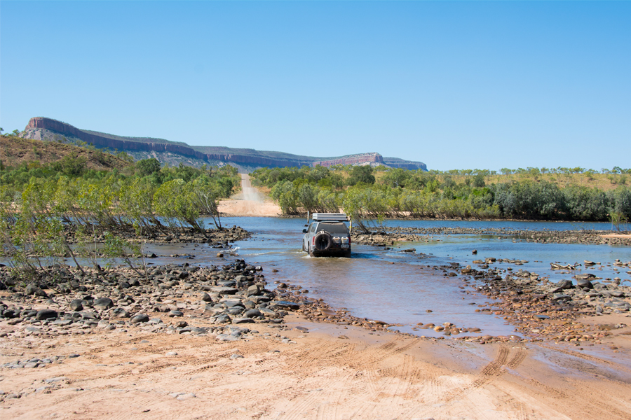 Pentecost River crossing on the Gibb River Road