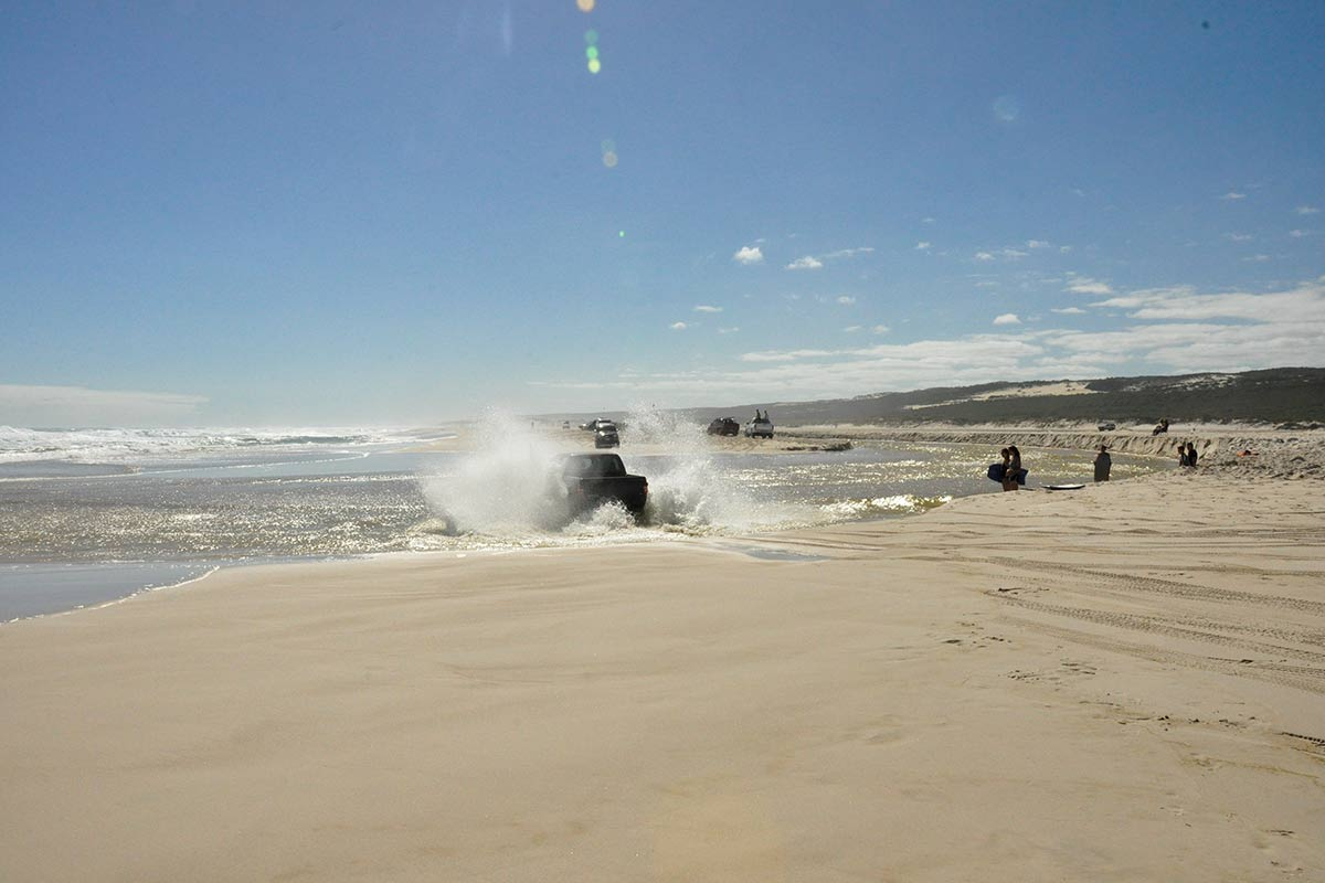 Driving through salt water is bad for your 4WD
