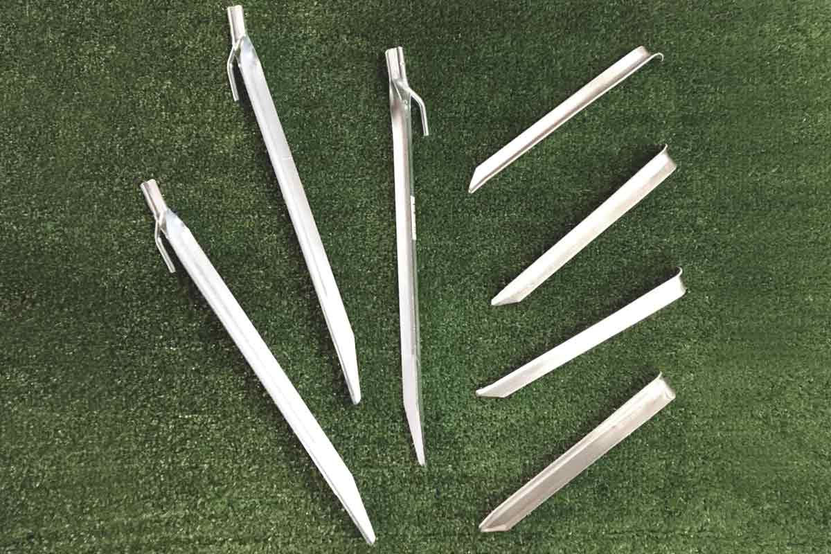 Steel Sand Pegs and Aluminium Angle Pegs
