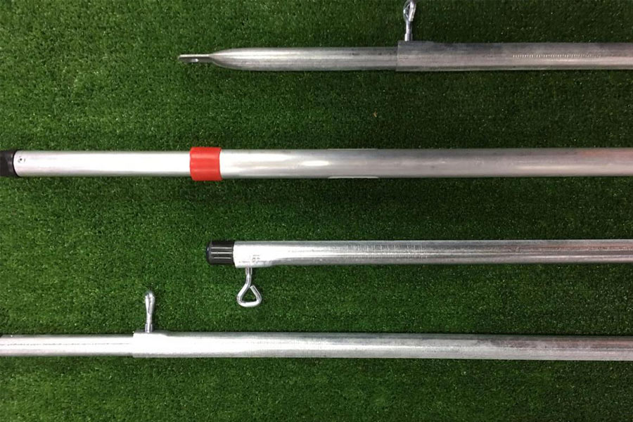 Different types of tent poles