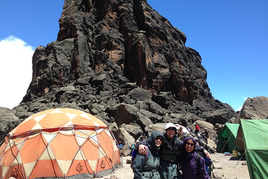 Day 3 lunchtime at 4630m at Lava Towers
