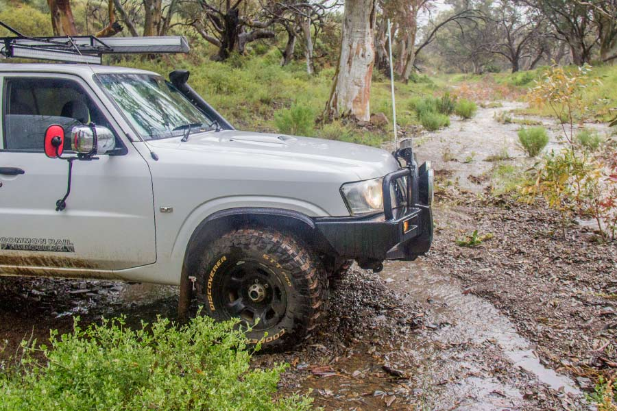4WD in muddy and wet conditions