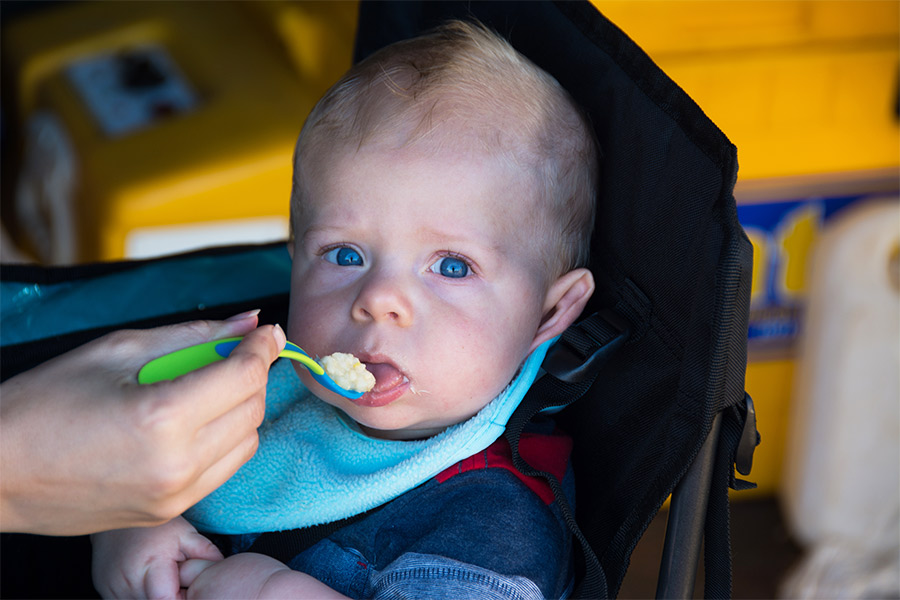 Feeding-a-baby-when-camping