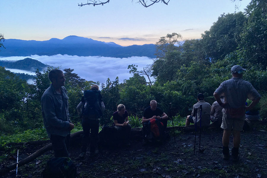Watching-a-morning-sunrise at Kokoda