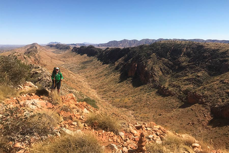 Counts Point in Section 8 along the Larapinta Trail