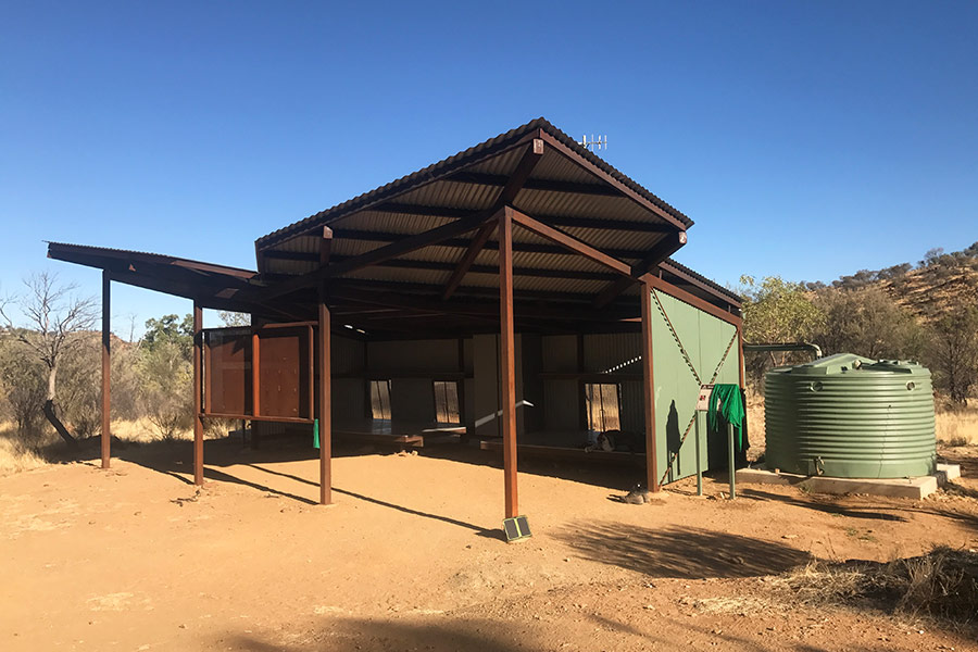 Shelters at most trailheads