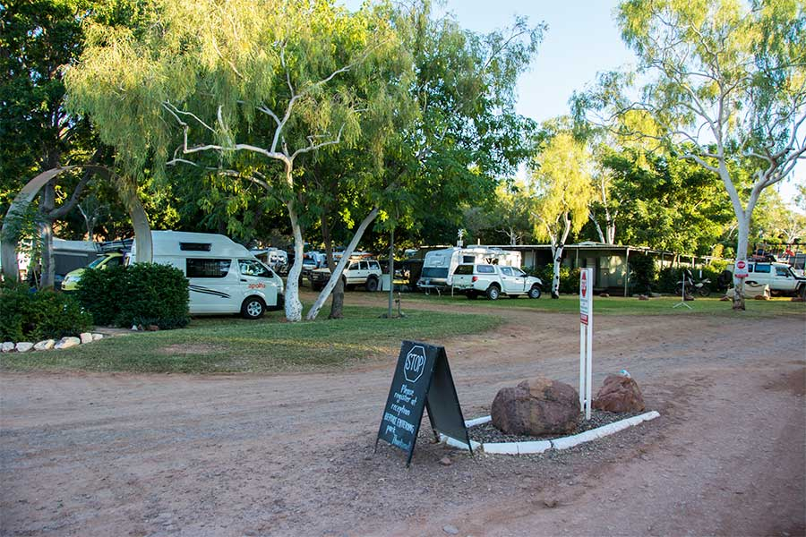 The amazing Lake Argyle Caravan Park