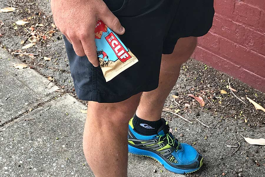 Runner with Choc Almond Clif Energy bar