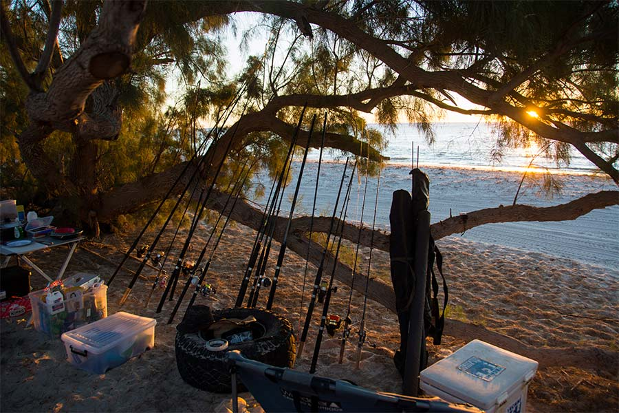Our-fishing-gear-at-Little-Bay