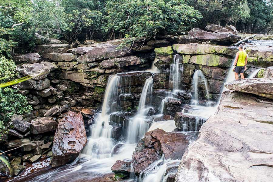 The waterfall at Bokor Mountain