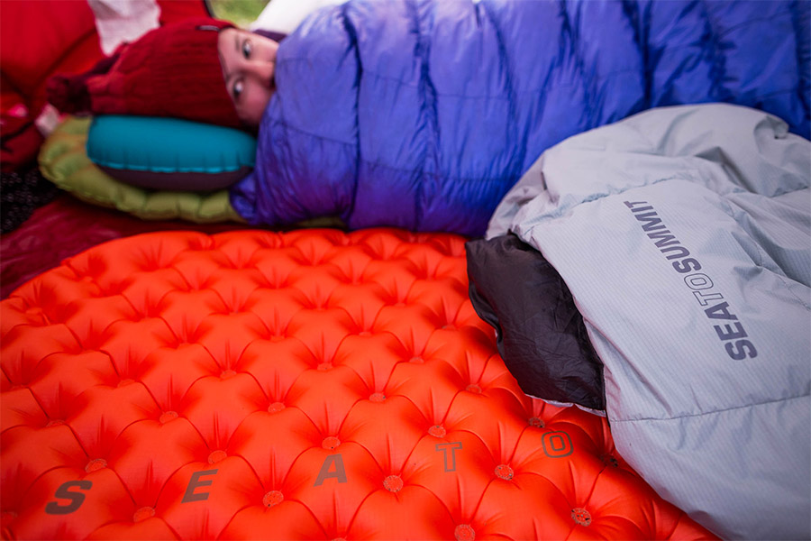 Self Inflating Mat in tent