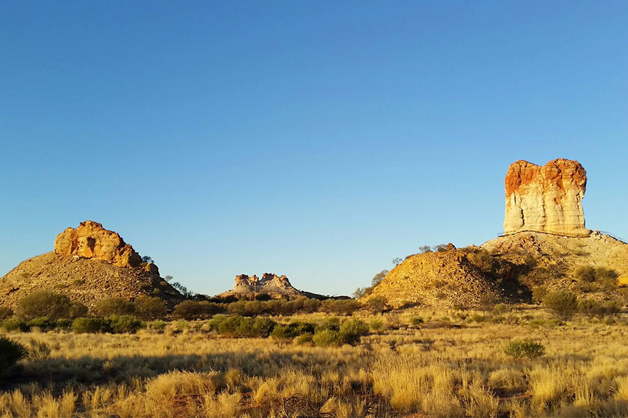 View of Castle Rock and Chambers Pillar