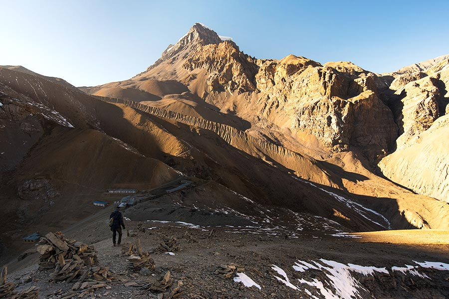 Clear skies and beautiful views on the Annapurna Circuit