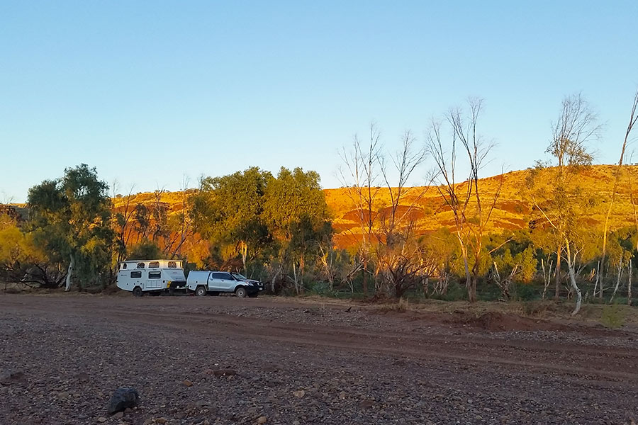 4WD driving to Marble Bar