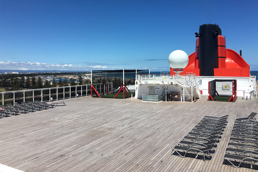 View of deck on a cruise ship