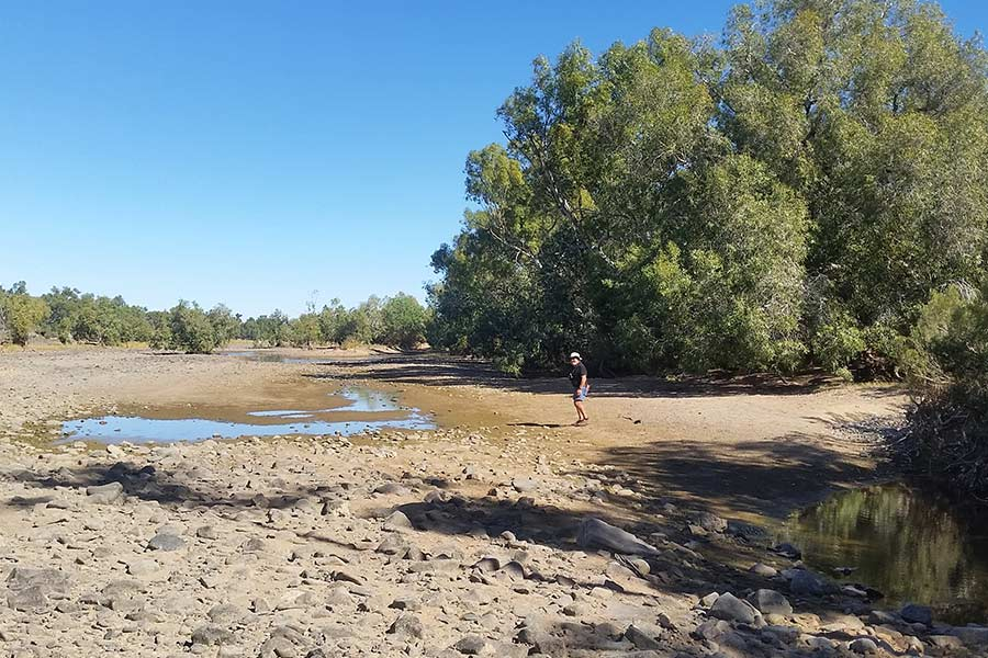 Standing by the Nullagin River