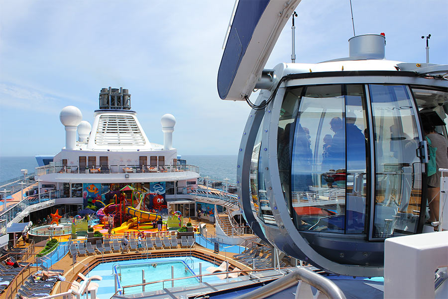 Kids' activities on a cruise ship