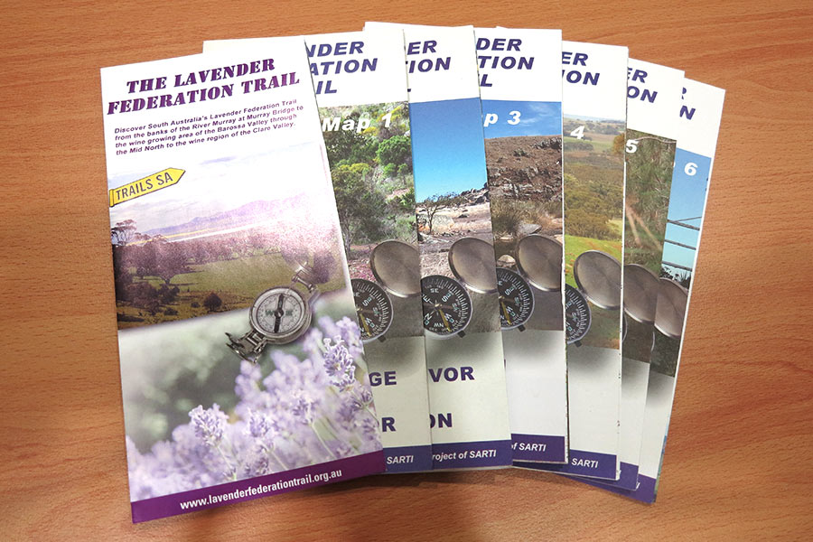 Maps to use that will guide you along the Lavender Federation Trail