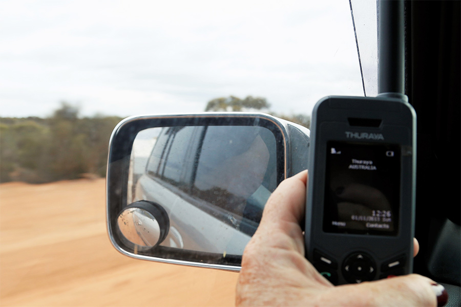 Testing for phone coverage along the Nullabor