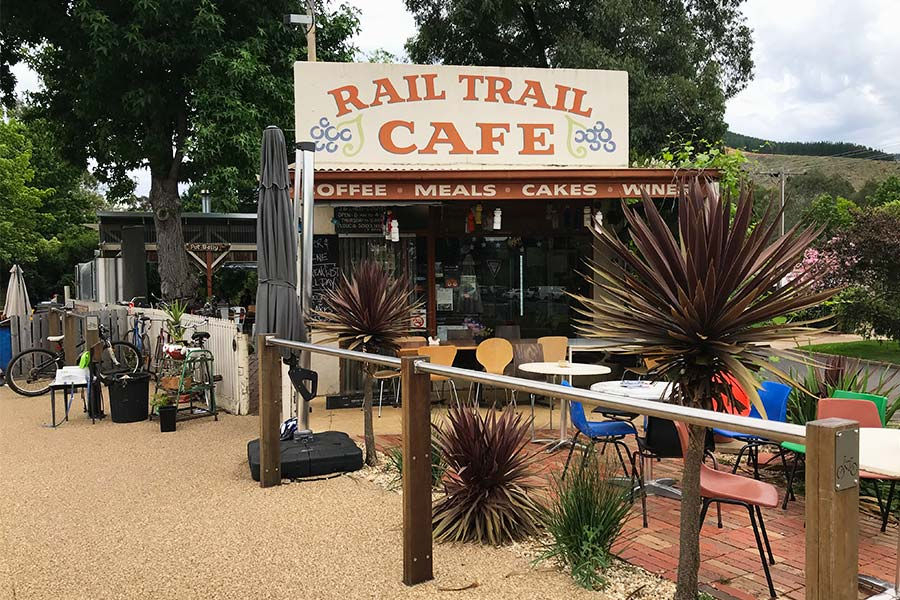 Front of the Rail Trail Cafe in Victoria