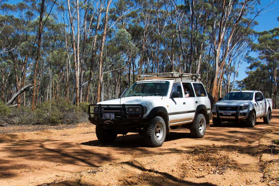 4WD moving along an outback road