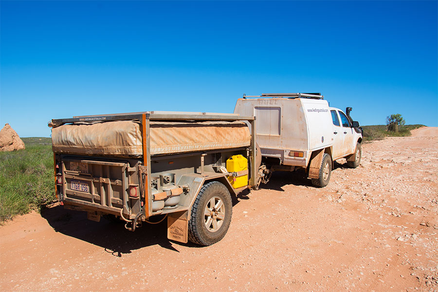 Towing-our-camper-trailer-off-road