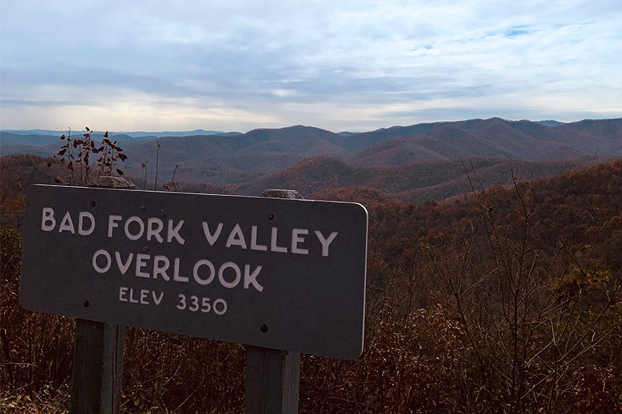 Bad Fork Valley Overlook along the Blue Ridge Parkway
