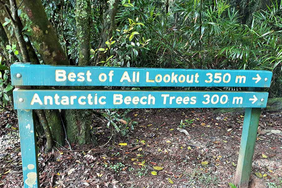 Best of All Lookout SIGN in Springbrook National Park