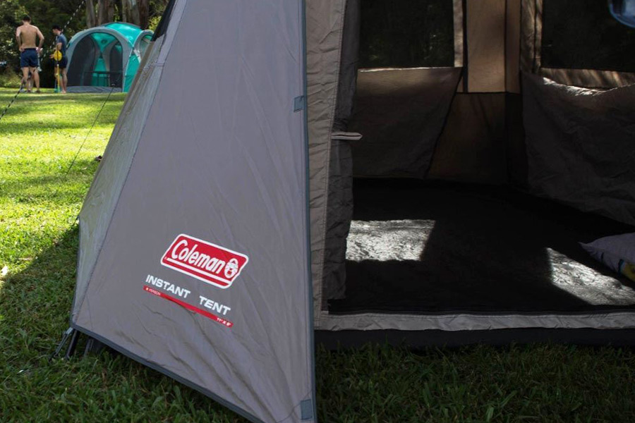 PU coating on a Coleman tent