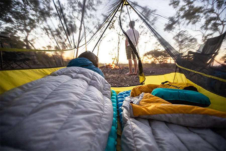 Sea to Summit sleeping bags made from outdoor fabrics