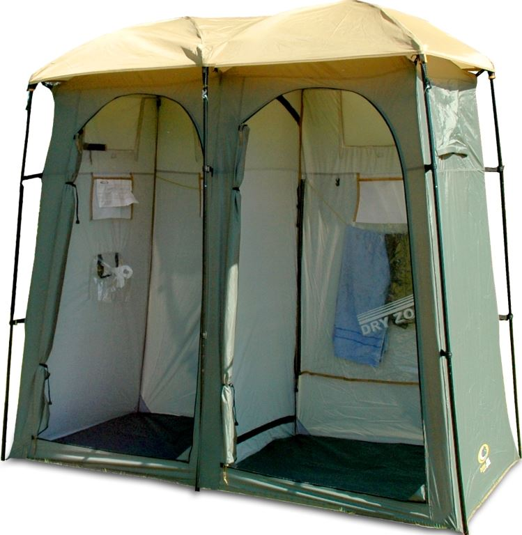 Outdoor connection double toilet shower tent snowys outdoors for Outdoor connection