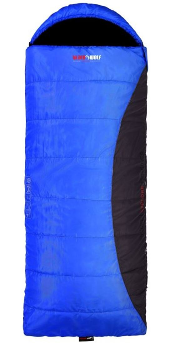 Picture of Black Wolf Zambezie Jumbo Hooded Sleeping Bag (-6°)