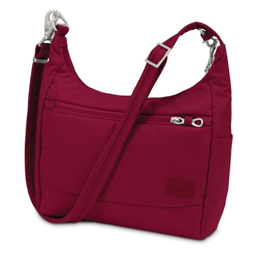 Picture of Pacsafe Citysafe CS100 Travel Handbag  Cranberry