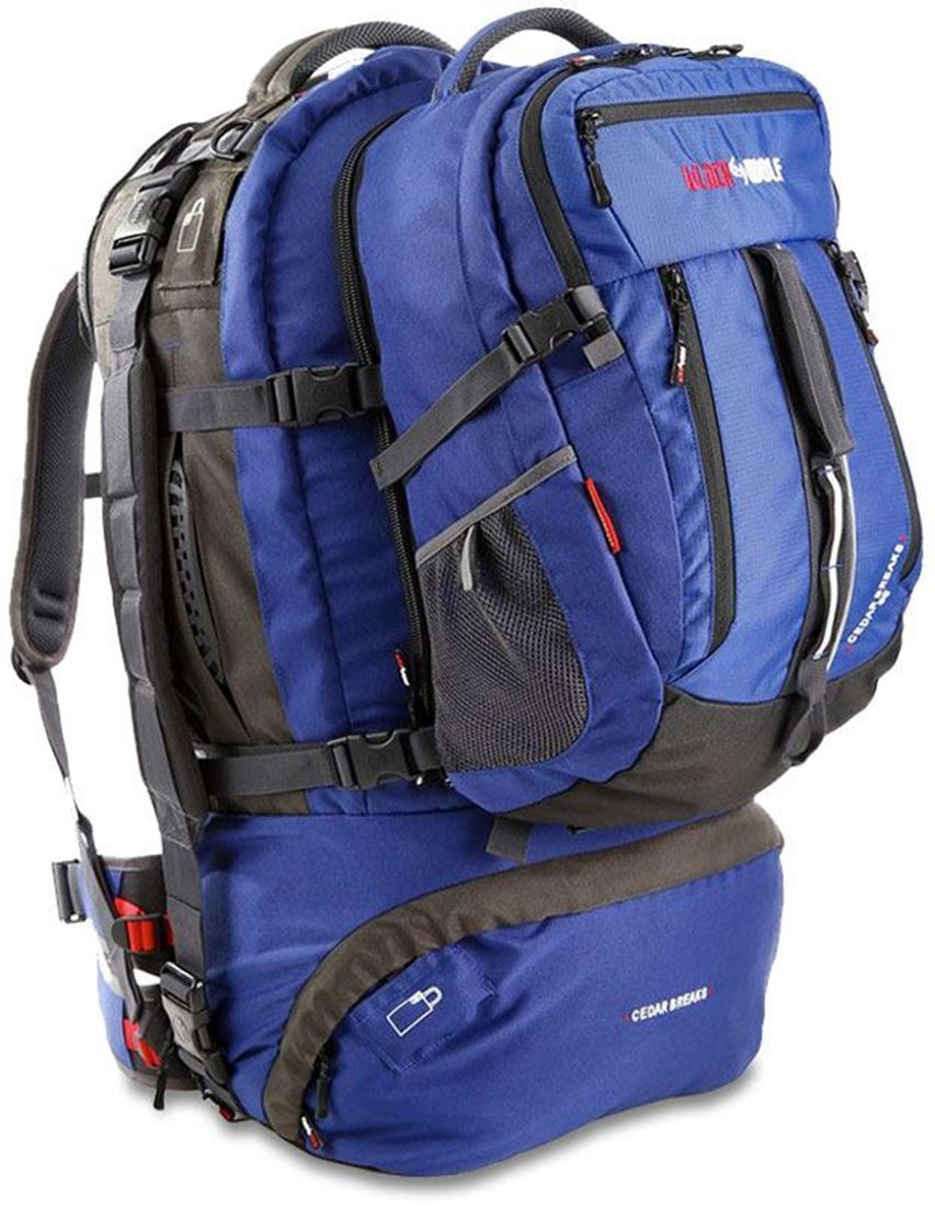 Black Wolf Cedar Breaks Travel Pack 90 Litre Blue