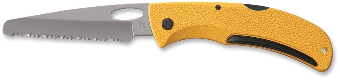 Gerber EZ Out Yellow Rescue Knife