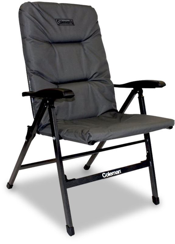 Coleman Pioneer 8 Position Flat Fold Chair Grey