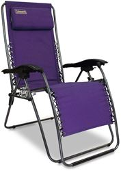 Coleman Layback Lounger Reclining Camp Chair Purple